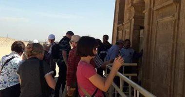 وفد سياحى من دولة ألمانيا يزرو المعالم السياحية بمحافظة المنيا