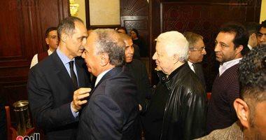 مرتضى منصور وأحمد زكى بدر ونواب بالبرلمان يشاركون فى عزاء مبارك