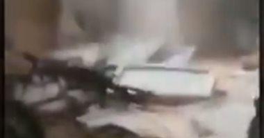 فيديو.. انتشال جثث جنود أتراك قتلوا فى قصف للطيران السورى والروسى بإدلب