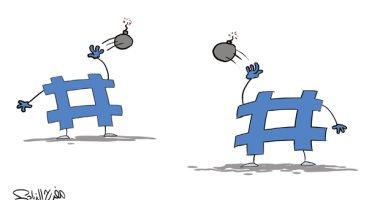 كاريكاتير صحيفة سعودية.. مواقع التواصل مفخخة بالشائعات