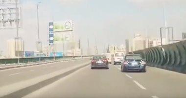 شاهد الحالة المرورية أعلى كوبرى أكتوبر من التحرير حتى المهندسين.. فيديو