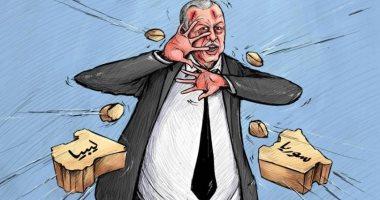 كاريكاتير صحيفة إماراتية.. سوريا وليبيا تدمران أردوغان