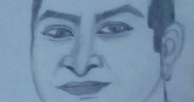 """""""كوثر"""" تشارك صحافة المواطن ببورتريه للرئيس الراحل مبارك"""