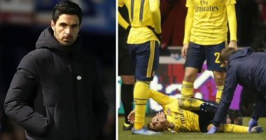 أرتيتا يتحدث عن إصابة توريرا بعد مغادرة مباراة أرسنال بالعكازات.. فيديو