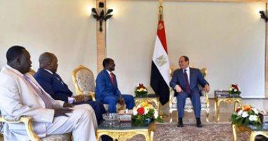 السيسى يستقبل نائب رئيس جنوب السودان ويرحب بتشكيل حكومة الوحدة الوطنية