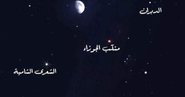 القمر الأحدب ونجما الشعرى والجوزاء فى مثلث سماوى الليلة بمصر والوطن العربى