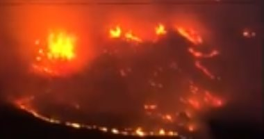 حريق ضخم يلتهم الغابات فى باتاجونيا جنوب الأرجنتين.. فيديو
