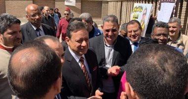 رئيس الهيئة الوطنية للصحافة يتفقد اللجان الانتخابية بدار الهلال