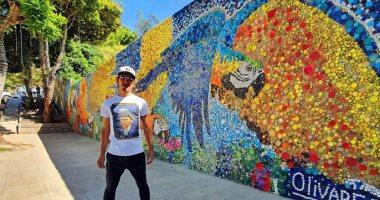 للتوعية بتغير المناخ.. جدارية ضخمة فى فنزويلا من أغطية الزجاجات البلاستيكية