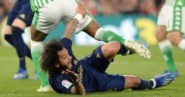 ريال مدريد فى ورطة بسبب إصابة كورتوا ومارسيلو أمام بيتيس