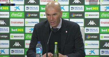 زيدان: أتحمل مسئولية الخسارة أمام ريال بيتيس