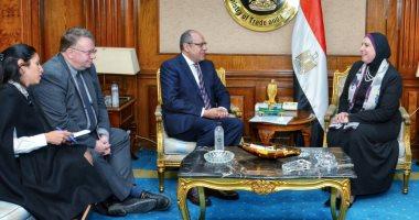 """وزيرة التجارة تبحث مع """"العمل الدولية"""" مشروعات التعاون بين المنظمة والحكومة المصرية"""