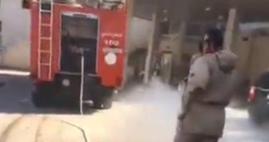 إصابة فنى كهرباء أثناء محاولته إخماد حريق بمطحن للغلال فى سوهاج