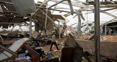أثار مدمرة للضربات الأمريكية على مطار كربلاء بالعراق