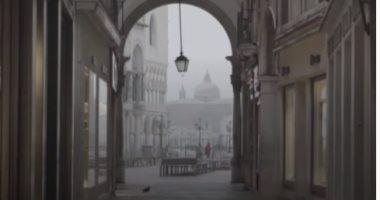 البندقية الإيطالية فارغة نتيجة الإغلاق العام بسبب كورونا.. فيديو
