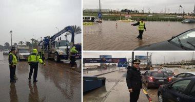 غرف عمليات المرور تعلن حالة الطوارئ اليوم تحسبا لهطول أمطار