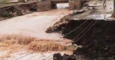 قارئ يشارك بصور لتكسير جزء من طريق في عزبة محمد إبراهيم بمغاغا