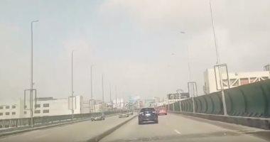 فيديو.. سيولة مرورية بكوبرى أكتوبر للمتجه من مدينة نصر للمهندسين