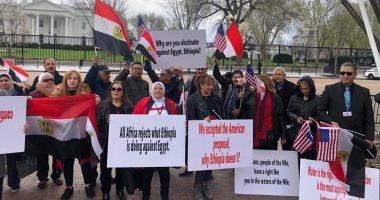 """وزيرة الهجرة عن وقفة الجالية أمام البيت الأبيض: """"المصريين جامدين ضد الكسر"""""""