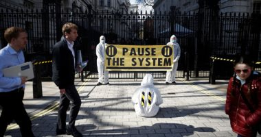 """مظاهرات فى بريطانيا احتجاجا على إجراءات الحكومة للحد من """"كورونا"""""""