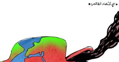 كاريكاتير صحيفة إماراتية.. يسلط الضوء على خسائر الاقتصاد العالمى بسبب كورونا