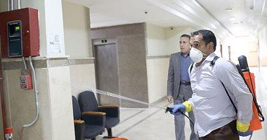 تطهير وتعقيم مبنى ديوان عام محافظة  بنى سويف والوحدات المحلية