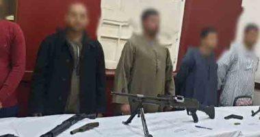 الداخلية تضبط 6 قطع أسلحة وتنفذ 75 حكم قضائى