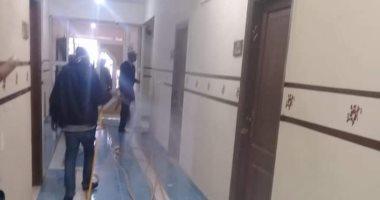 تواصل أعمال تطهير المصالح الحكومية والمدارس فى رأس غارب. صور