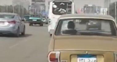 فيديو.. سيولة مرورية أعلى كوبرى أكتوبر من التحرير إلى المهندسين