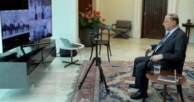 الرئيس اللبنانى يدين إطلاق إسرائيل النار على المتظاهرين على الحدود