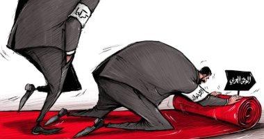 كاريكاتير صحيفة إماراتية.. الإخوان يمهدون أراضى الوطن العربى للإحتلال التركى