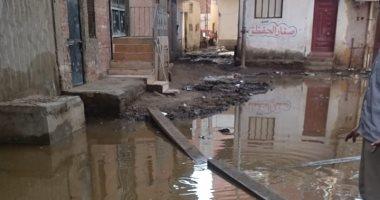 مياه الصرف تغرق قرية فرسيس بالغربية.. والأهالى يستغيثون بالمسئولين
