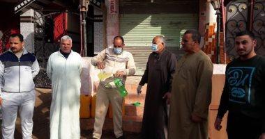 شباب قرية شونى بالغربية يطهرون الشوارع ضد فيروس كورونا