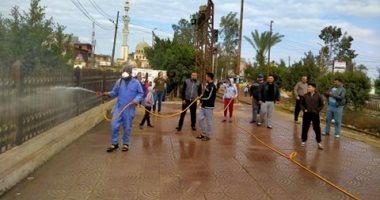 شباب الكراكات بمدينة بيلا كفر الشيخ يطهرون المساجد والشوارع