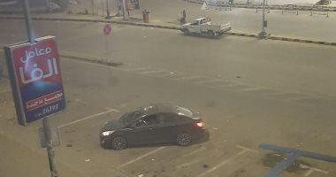 من البلكونة.. قارئ يرصد ميدان الحصرى بأكتوبر  بالساعات الأولى لحظر التجول