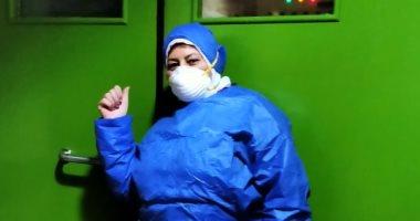 """بالجوانتى والكمامة.. يسرية تشارك فى مبادرة """"اليوم السابع"""" للوقاية من كورونا"""