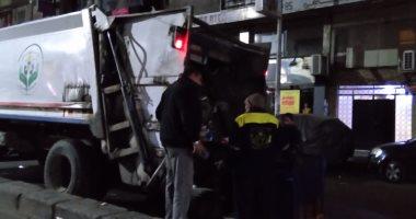 حملات للنظافة وتعقيم شوارع الإسكندرية بالتزامن مع تطبيق الحظر