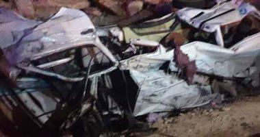 أول فيديو لكارثة تصادم 16 سيارة على الدائرى الإقليمى بالجيزة