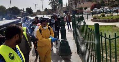 صور.. تعقيم أماكن الأسواق الشعبية والشوارع المزدحمة بالقاهرة