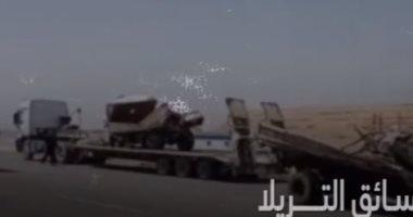 تفاصيل حادث الدائرى الإقليمى ووفاة 17 مواطنا تحت عجلات النقل.. فيديو
