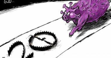 كاريكاتير صحيفة سعودية.. فيروس كورونا دمر 2020