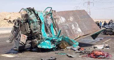 شاهد.. صور الصدمة والرعب من حادث الدائرى الإقليمى بالجيزة