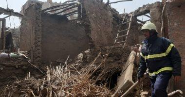انهيار جزء من منزل غير مأهولة بالسكان بالدقهلية بسبب سوء الأحوال الجوية