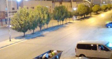محمد يشارك صورة خلو الرياض من المارة تنفيذا لقرار الحظر بالسعودية