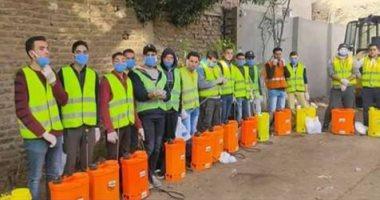 شباب قرية كفر شبين يتطوعون لتطهير القرية كل ثلاثة أيام بالقليوبية