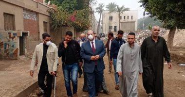 جولة مفاجئة لنائب محافظ الجيزة بكفر زهران فى البدرشين ..صور
