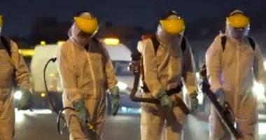 الامارات تبدأ برنامج تعقيم لمدة 3 أيام فى شوارع ومنشآت دبي.. فيديو -