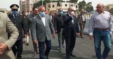 محافظ القاهرة يتفقد محور روسكى رمسيس المرورى ونسب التنفيذ بجسر السويس.. صور