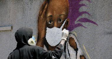 جرافيتى فى شوارع السنغال يحذر من خطورة كورونا