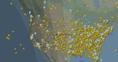 الصورة مبتكدبش.. حركة الطيران بسماء أمريكا تتجاوز أوروبا رغم أزمة كورونا
